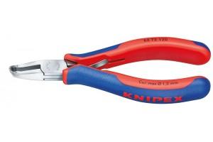 Кусачки Knipex 64 72 120, торцевые для электроники, коробчатый шарнир, полированные, 120 mm, KN-6472120