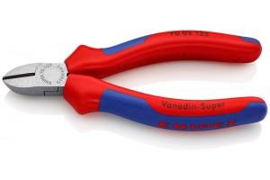 Кусачки боковые Knipex 70 02 125, с двухкомпонентными пластиковыми чехлами, 125 mm, KN-7002125