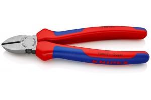 Кусачки боковые Knipex 70 02 180, с двухкомпонентными пластиковыми чехлами, 180 mm, KN-7002180