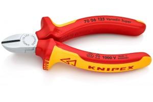 Кусачки боковые Knipex 70 06 125, диэлектрические VDE 1000V, хромироаванные, 125 mm, KN-7006125