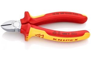 Кусачки боковые Knipex 70 06 140, диэлектрические VDE 1000V, хромироаванные, 140 mm, KN-7006140
