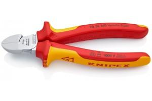 Кусачки боковые Knipex 70 26 160, диэлектрические VDE 1000V, хромироаванные, 160 mm, KN-7026160