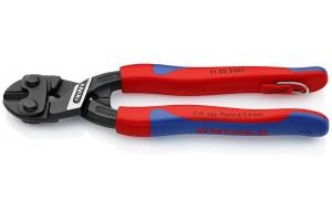 Болторез Knipex 71 02 20 0TBK CoBolt®, черненые, с двухкомпонентными ручками, со страховочной петлёй, 200 mm, KN-7102200TBK