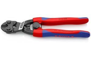Болторез Knipex 71 12 200, CoBolt®, черненые, с двухкомпонентными ручками, с разжимной пружиной, 200 mm, KN-7112200