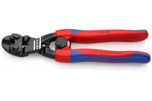 Болторез Knipex 71 22 200, CoBolt®, черненые, с двухкомпонентными ручками, угловые ∡20°, 200 mm, KN-7122200