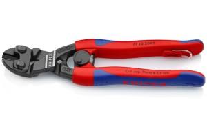 Болторез Knipex 71 22 20 0TBK CoBolt®, черненые, с двухкомпонентными ручками, угловые ∡20°, со страховочной петлёй, 200 mm, KN-7122200TBK