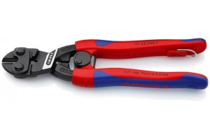 Болторез Knipex 71 32 20 0TBK CoBolt® с выемкой в режущей кромке, с двухкомпонентными ручками, черненые, со страховочной петлёй, 200 mm, KN-7132200TBK