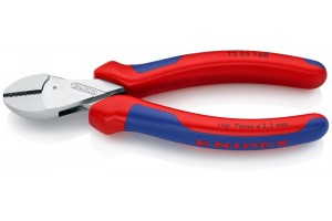 Кусачки Knipex 73 05 160, X-Cut, с высокой передачей усилия, коробчатый шарнир, хромированные, 160 mm, KN-7305160