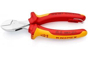 Кусачки Knipex 73 06 16 0T X-Cut, диэлектрические VDE 1000V, коробчатый шарнир, хромированные, со страховочной петлёй, 160 mm, KN-7306160T