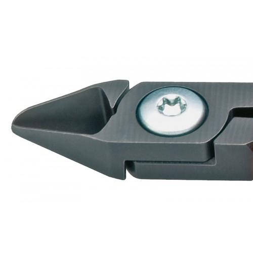 Кусачки, Knipex 75 12 125, для электроники, воронёные, винтовой шарнир, 125 mm, KN-7512125