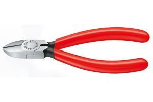 Кусачки, Knipex 76 01 125, для электроники, воронёные, однокомпонентные чехлы, 125 mm, KN-7601125