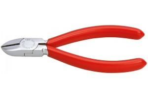 Кусачки, Knipex 76 03 125, для электроники, хромированные, однокомпонентные чехлы, 125 mm, KN-7603125