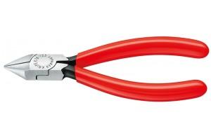 Кусачки, Knipex 76 81 125, для электроники, воронёные, однокомпонентные чехлы, 125 mm, KN-7681125