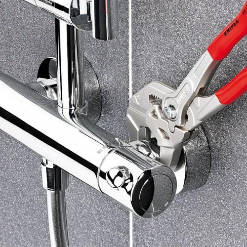 Клещи переставные-гаечный ключ Knipex 86 05 250, с двухкомпонентными ручками, хромированные, 250 mm, KN-8605250