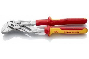 Клещи переставные-гаечный ключ Knipex 86 06 250, диэлектрические VDE 1000V, хромированные, 250 mm, KN-8606250