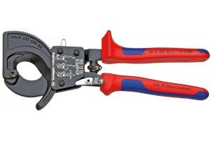 Ножницы Секторные Knipex 95 31 250, двухкомпонентные чехлы, до 240 мм², 250 mm, KN-9531250