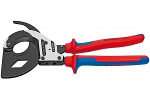 Ножницы секторные Knipex 95 32 320, с двухкомпонентными чехлами, до 600 мм², 320 mm, KN-9532320