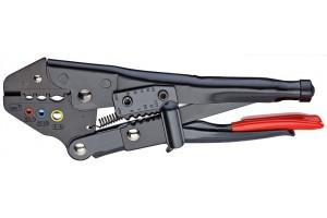 Клещи зажимные Knipex 97 00 21 5A, для опрессовки кабельных наконечников 0, 5 - 6, 0 mm², 215 mm, KN-9700215A