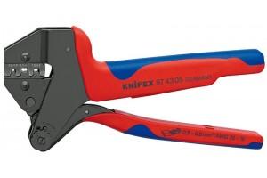 Пресс-клещи Knipex 97 43 05, системные, двухкомпонентные ручки, 0, 5 - 6, 0 mm², 200 mm, KN-974305