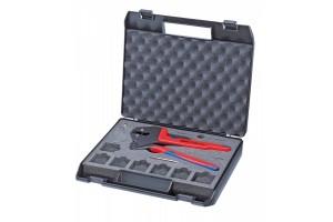 Пресс-клещи Knipex 97 43 200, системные, двухкомпонентные ручки, в пластиковом кейсе, 200 mm, KN-9743200