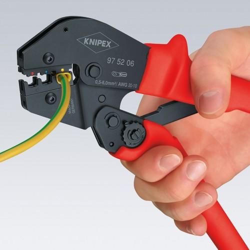 Пресс-клещи Knipex 97 52 09, рычажные, вороненые, 10 / 16 / 25 mm², 250 mm, KN-975209