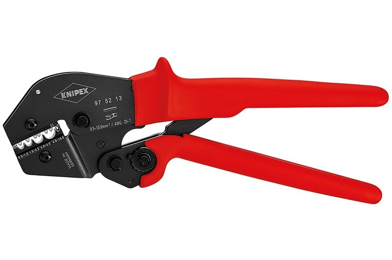 Пресс-клещи Knipex 97 52 13, рычажные, вороненые, 0, 5 - 10, 0 mm², 250 mm, KN-975213