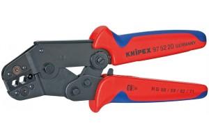 Пресс-клещи Knipex 97 52 20, рычажные, вороненые, RG 58; 59; 62; 71; 223, mm², 195 mm, KN-975220