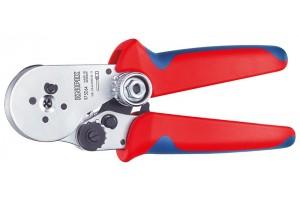 Пресс-клещи Knipex 97 52 64, для тетрагональной опрессовки контактов 0, 08 - 2, 5 mm², 180 mm, KN-975264