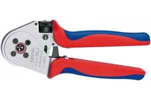 Пресс-клещи Knipex 97 52 65A, для тетрагональной опрессовки контактов 0, 14 - 6, 0 mm², 250 mm, KN-975265A
