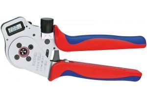 Пресс-клещи Knipex 97 52 65 DGA, для тетрагональной опрессовки контактов 0, 14 - 6, 0 mm², 250 mm, KN-975265DGA