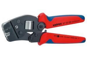Пресс-клещи Knipex 97 53 08, торцевые, автоматические, торцевые, двухкомпонентные ручки, 0, 08 - 10 mm², 180 mm, KN-975308