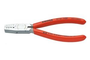 Пресс-клещи Knipex 97 61 14 5F, однокомпонентные ручки, с разжимной пружиной, 0, 25 - 2, 5 mm², 145 mm, KN-9761145F