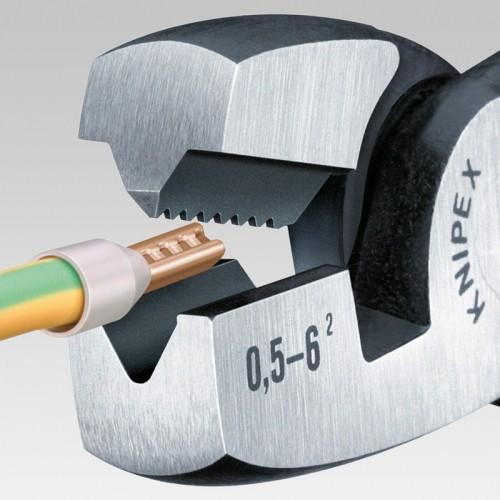 Пресс-клещи Knipex 97 81 180, однокомпонентные ручки, 0, 5 - 6, 0 mm², 180 mm, KN-9781180
