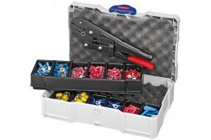 Набор кабельных наконечников Knipex 97 90 00, с инструментом для опрессовки, KN-979000