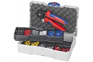 Набор контактных гильз Knipex 97 90 09, с инструментом для опрессовки, KN-979009