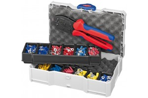Набор кабельных наконечников Knipex 97 90 21, с инструментом для опрессовки, KN-979021