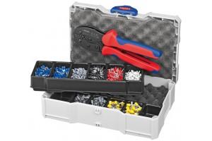 Набор контактных гильз Knipex 97 90 23, с инструментом для опрессовки, KN-979023