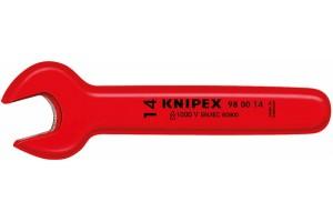 Ключ Knipex 98 00 19, диэлектрический VDE 1000V, рожковый односторонний, ∡15°, 19, 0 mm, KN-980019