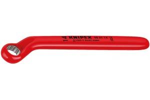 Ключ Knipex 98 01 22, диэлектрический VDE 1000V, накидной односторонний, 22, 0 mm, KN-980122