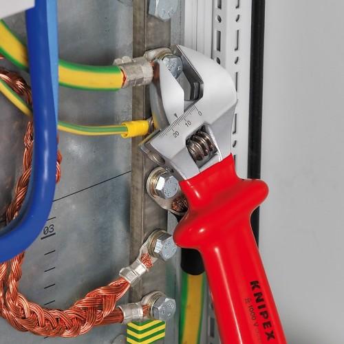 Разводной ключ Knipex 98 07 250, диэлектрический VDE 1000V, 260 mm, KN-9807250