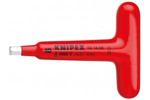 фото для товара Отвертка Knipex 98 14 08, шестигранная, диэлектрический VDE 1000V, с Т-образной ручкой, 8, 0 mm, KN-981408, KN-981408, 4919 руб., KN-981408, KNIPEX, Отвертка, Для Винтов С Внутренним Шестигранником