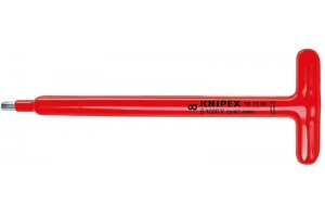 фото для товара Отвертка Knipex 98 15 05, шестигранная, диэлектрический VDE 1000V, с Т-образной ручкой, удлинённый, 5, 0 mm, KN-981505, KN-981505, 5210 руб., KN-981505, KNIPEX, Отвертка, Для Винтов С Внутренним Шестигранником