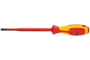 Отвертка диэлектрическая Knipex 98 20 40 SL, шлицевая с тонким жалом, 202 mm, 4, 0 х 0, 8 mm, KN-982040SL