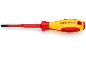 Отвертка диэлектрическая Knipex 98 24 02 SLS, PlusMinus Phillips®, с тонким жалом, 212 mm, PH2, KN-982402SLS