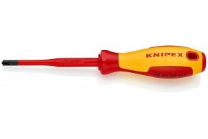 Отвертка диэлектрическая Knipex 98 25 02 SLS, PlusMinus Pozidriv®, с тонким жалом, 212 mm, PZ2, KN-982502SLS