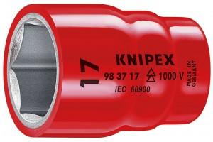 Головка торцевая Knipex 98 37 12, диэлектрическая VDE 1000V, шестигранная, хвостовик 3/8, 12, 0 mm, KN-983712