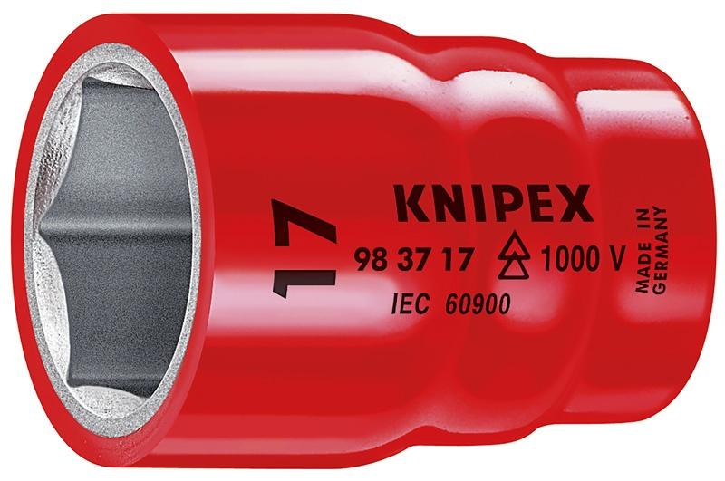 Головка торцевая Knipex 98 37 17, диэлектрическая VDE 1000V, шестигранная, хвостовик 3/8, 17, 0 mm, KN-983717