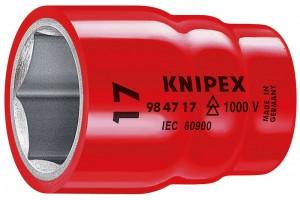 Головка торцевая Knipex 98 47 18, диэлектрическая VDE 1000V, шестигранная, хвостовик 1/2, 18, 0 mm, KN-984718