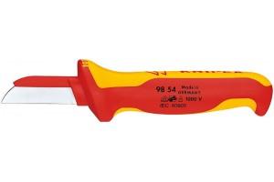 Нож Knipex 98 54, для снятия изоляции, диэлектрический VDE 1000V, 190 mm, KN-9854