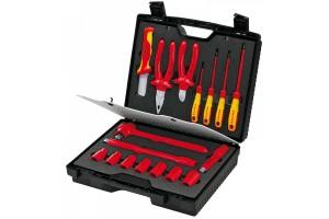 Чемодан Knipex 98 99 11, с диэлектрическим инструментом VDE 1000V, 17 предметов, KN-989911